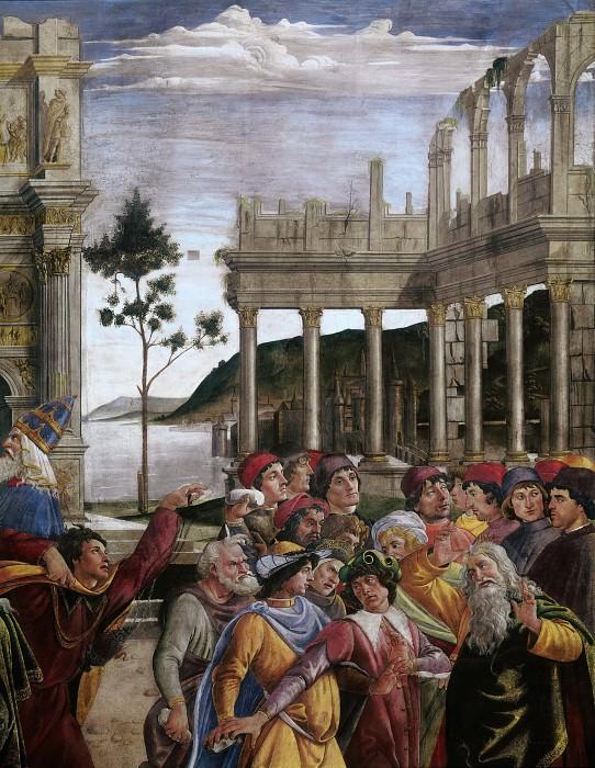 The Punishment of Korah, detail. Alessandro Botticelli
