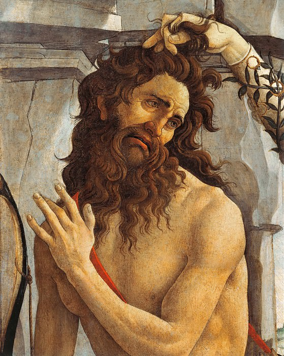 Pallas and the Centaur, detail. Alessandro Botticelli