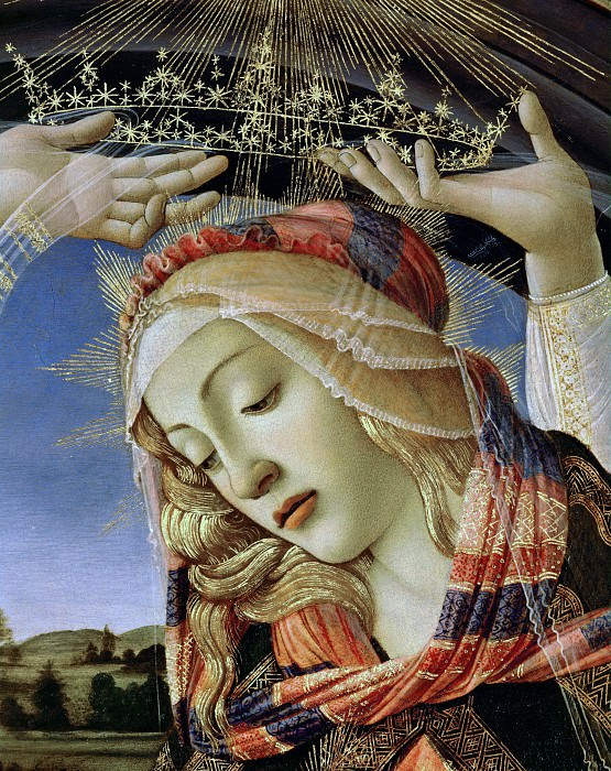 Magnificat Madonna, detail. Alessandro Botticelli