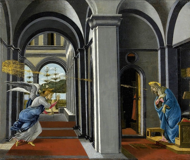 The Annunciation. Alessandro Botticelli