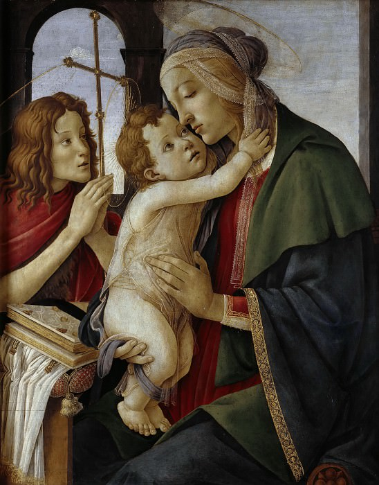 Madonna with Child and the young Saint John. Alessandro Botticelli