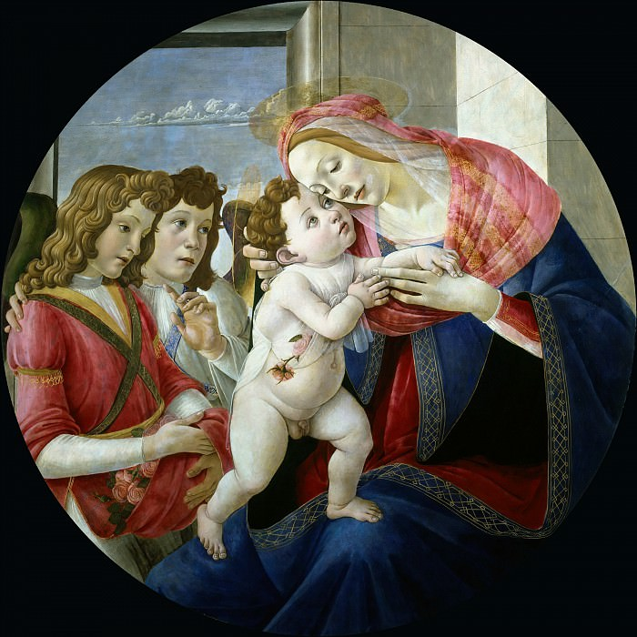 Madonna with Child and Two Angels (Workshop). Alessandro Botticelli