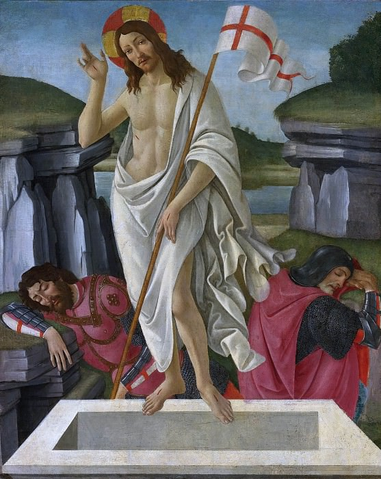 THE RESURRECTION (and Studio). Alessandro Botticelli
