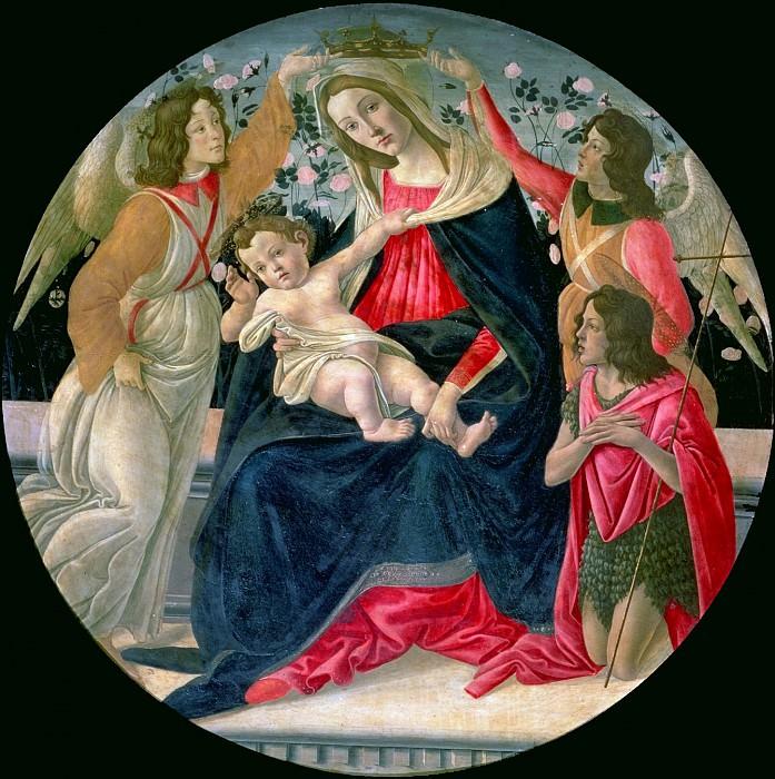 Мадонна с Младенцем с Иоанном Крестителем и ангелами. Сандро Боттичелли
