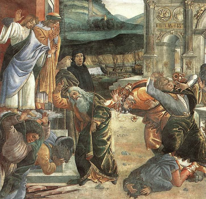Наказание Корея, фрагмент. Сандро Боттичелли