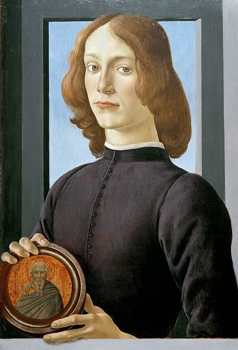 Portrait of a young man with medallion. Alessandro Botticelli