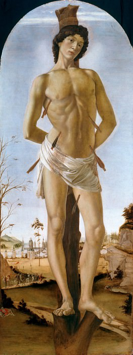 St. Sebastian. Alessandro Botticelli