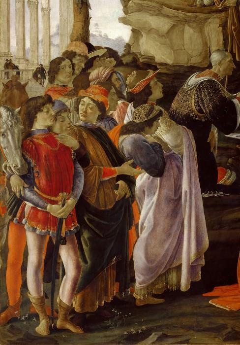 Поклонение волхвов, фрагмент. Сандро Боттичелли