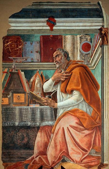 Святой Августин. Сандро Боттичелли