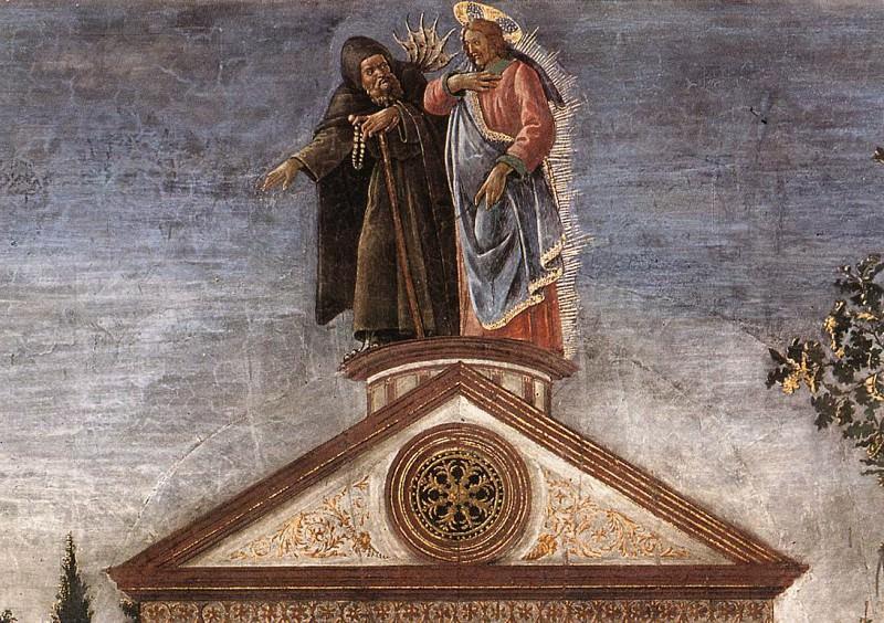 Искушение Христа, фрагмент. Сандро Боттичелли