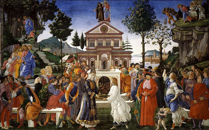 The Temptations of Christ. Alessandro Botticelli