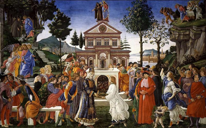 The Temptations of Christ. Alessandro Botticelli