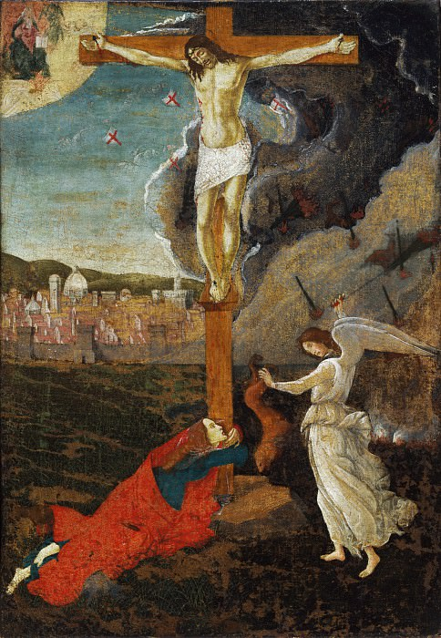 Mystic Crucifixion. Alessandro Botticelli