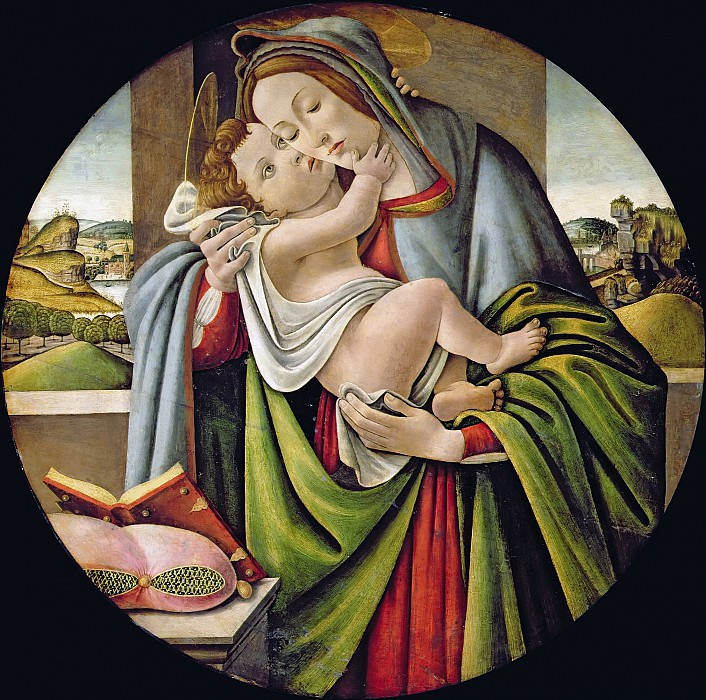 Madonna and Child (studio of). Alessandro Botticelli