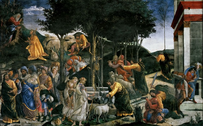 The Trials of Moses. Alessandro Botticelli