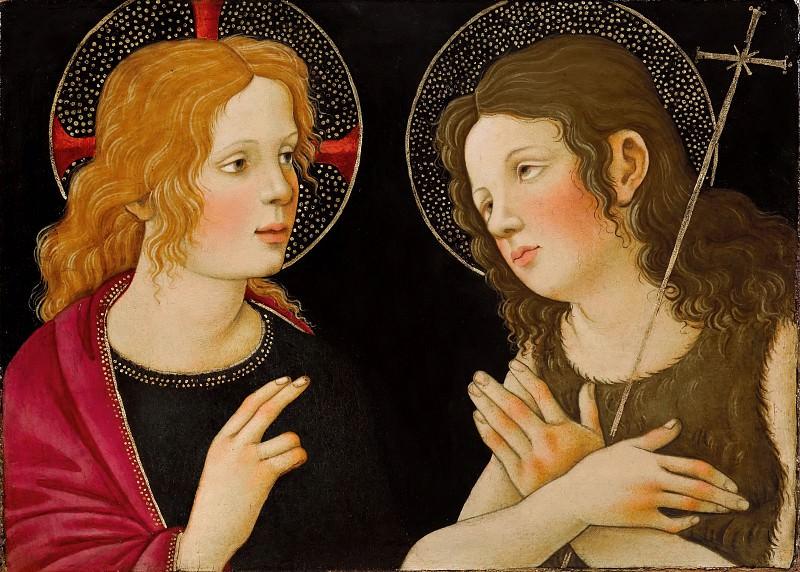 Christ with Saint John the Baptist. Alessandro Botticelli