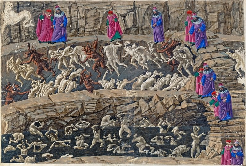 Inferno, Canto XVIII, Eighth Circle. Alessandro Botticelli