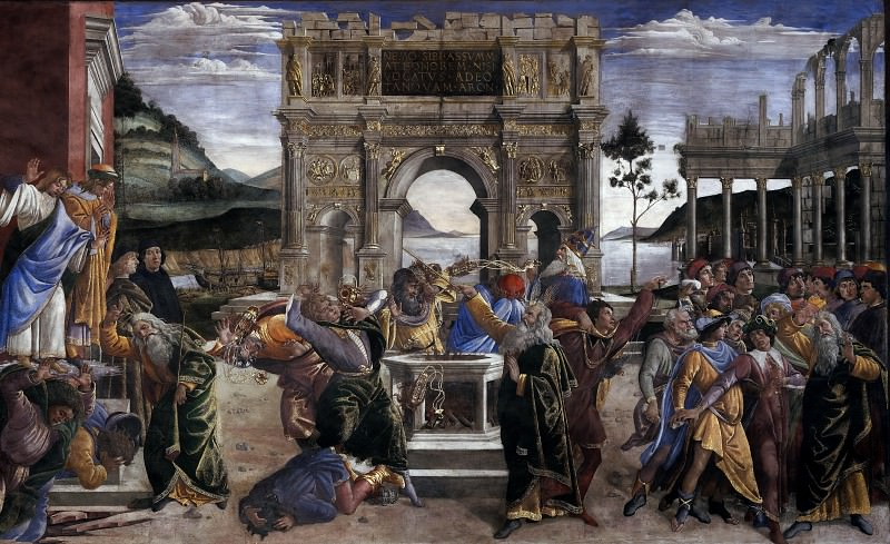 The Punishment of Korah. Alessandro Botticelli