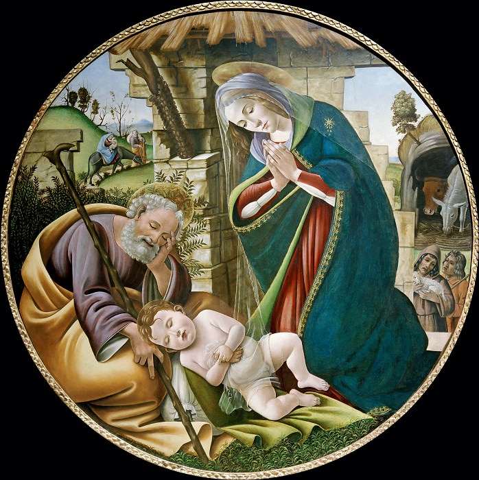 Поклонение Младенцу Христу. Сандро Боттичелли