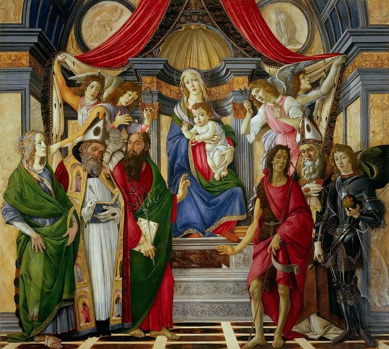 Алтарь святого Варнавы. Сандро Боттичелли