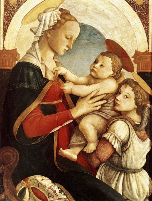 Madonna and Child with an Angel. Alessandro Botticelli