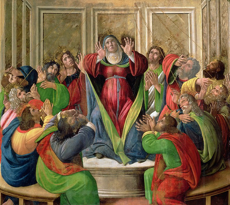 The Descent of the Holy Ghost (studio of). Alessandro Botticelli