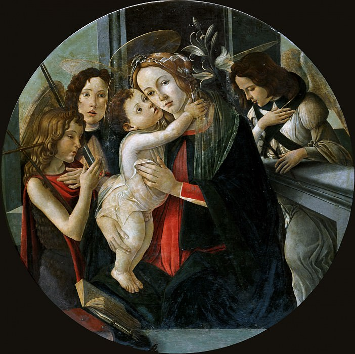Mary and Child with the boy St. John and two angels (attr.). Alessandro Botticelli