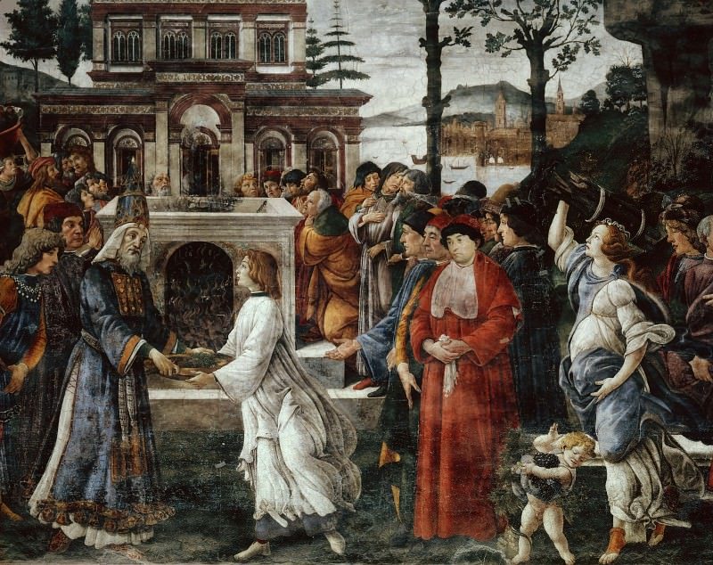 The Temptation of Christ, detail. Alessandro Botticelli