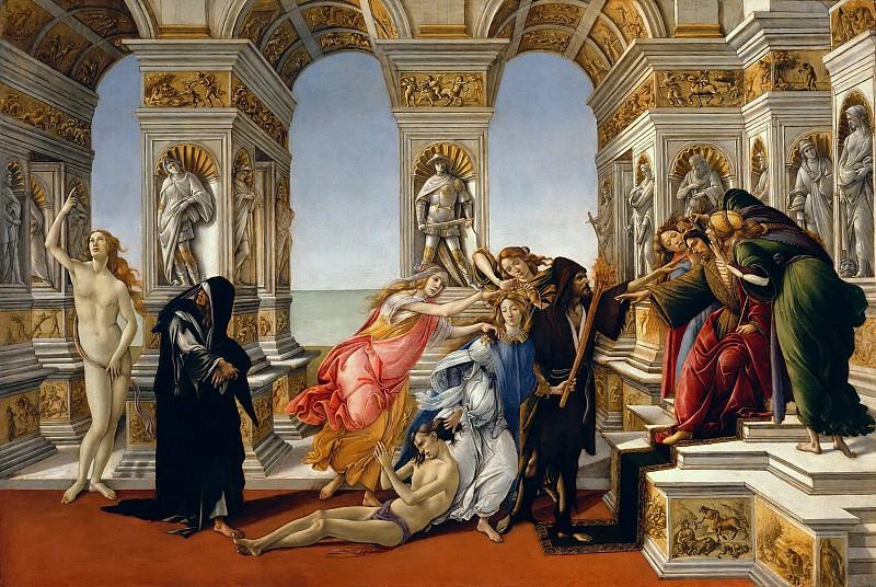 Calumny of Apelles. Alessandro Botticelli