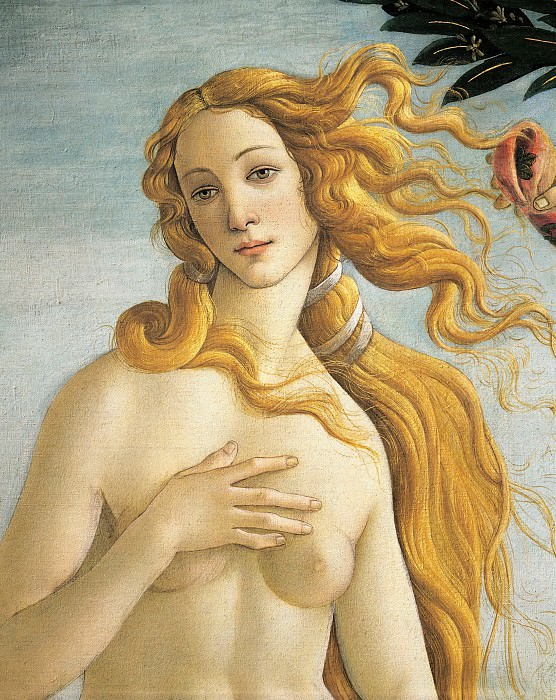 The Birth of Venus, detail. Alessandro Botticelli