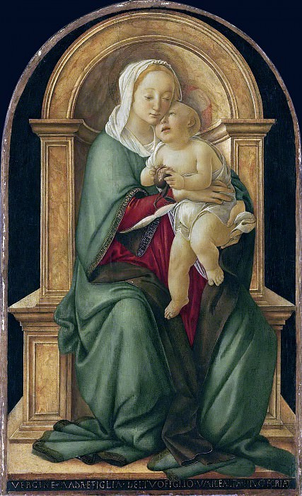 The Madonna and Child with a pomegranate. Alessandro Botticelli