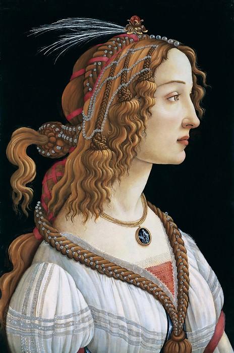 Portrait of a woman. Alessandro Botticelli