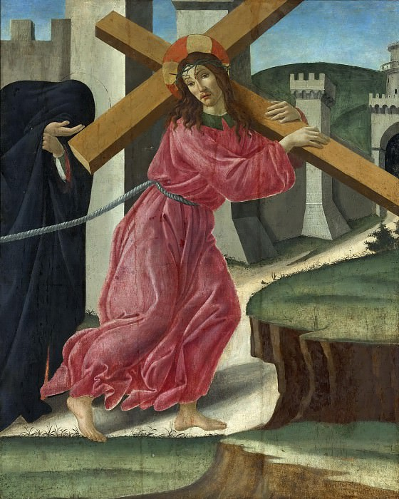 CHRIST CARRYING THE CROSS (and Studio). Alessandro Botticelli