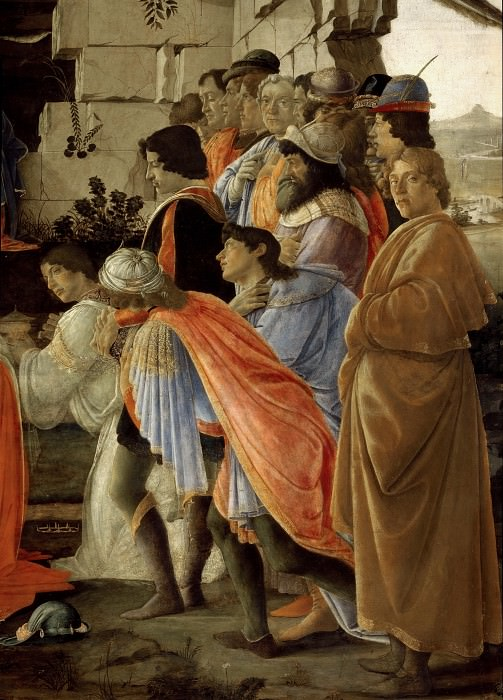 Adoration of the Magi, detail. Alessandro Botticelli