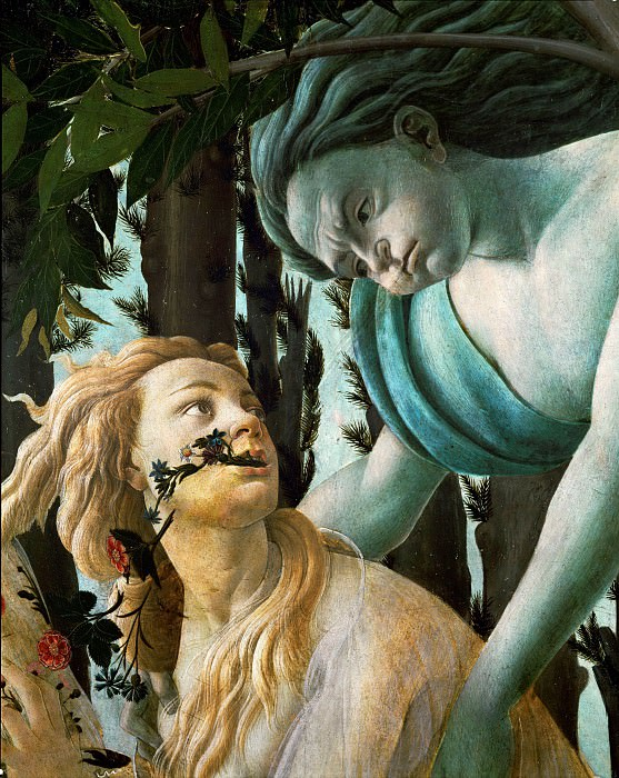 Spring (Primavera), detail. Alessandro Botticelli