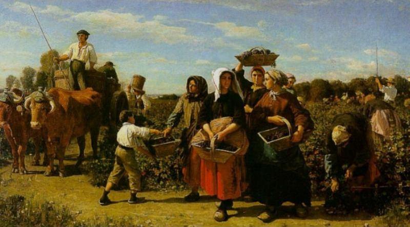 Сбор винограда у Шато Лагранж. Жюль Бретон