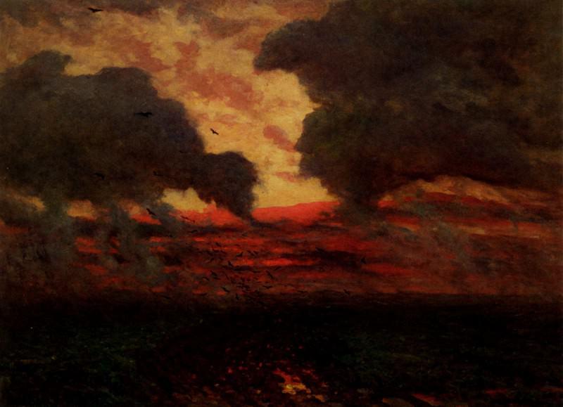 Les Corbeaux Soir D Orage. Jules Breton
