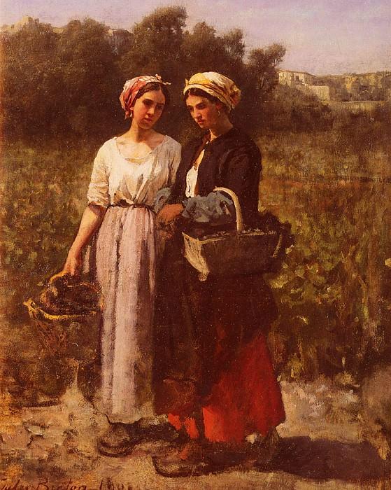 Сборщицы винограда у Шато Лагранж. Жюль Бретон