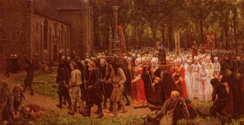 Le Pardon De Kergoat. Jules Breton