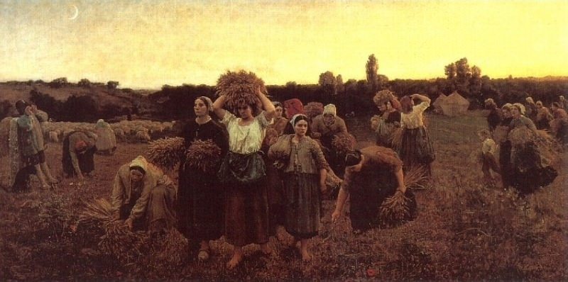 The Recall of the Gleaners. Jules Breton