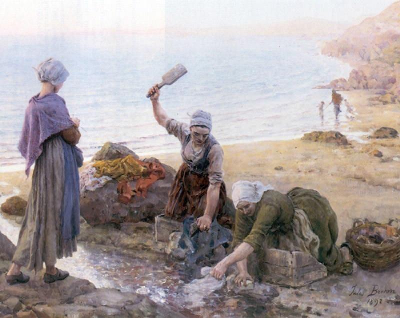 Souvenir de dour Arnenez. Jules Breton