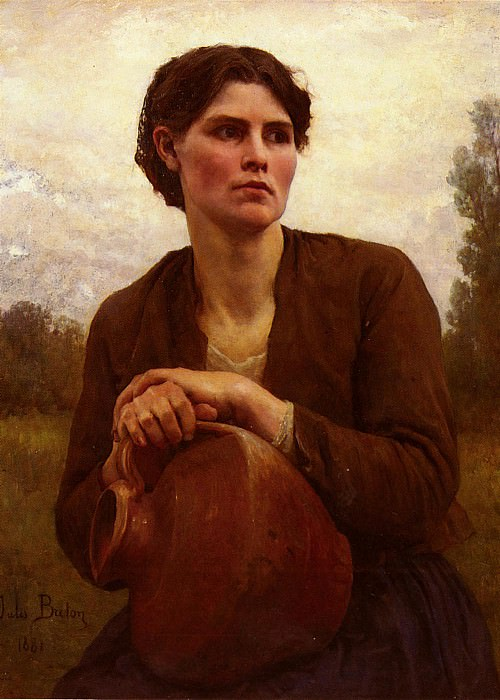 The Water Carrier. Jules Breton