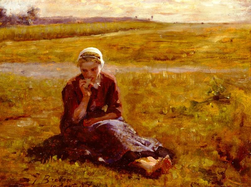 Afternoon Repast. Jules Breton