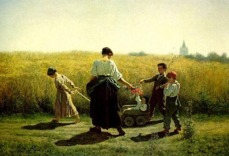 The Departure for the Fields. Jules Breton