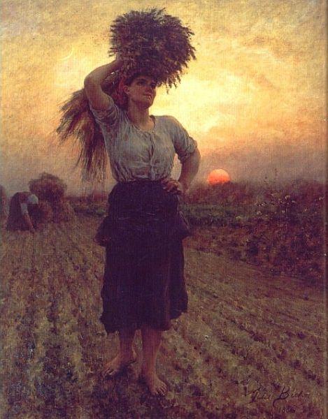 Harvesters. Jules Breton