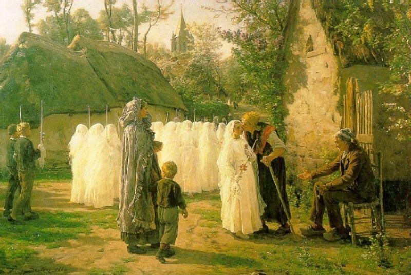 The Communicants. Jules Breton