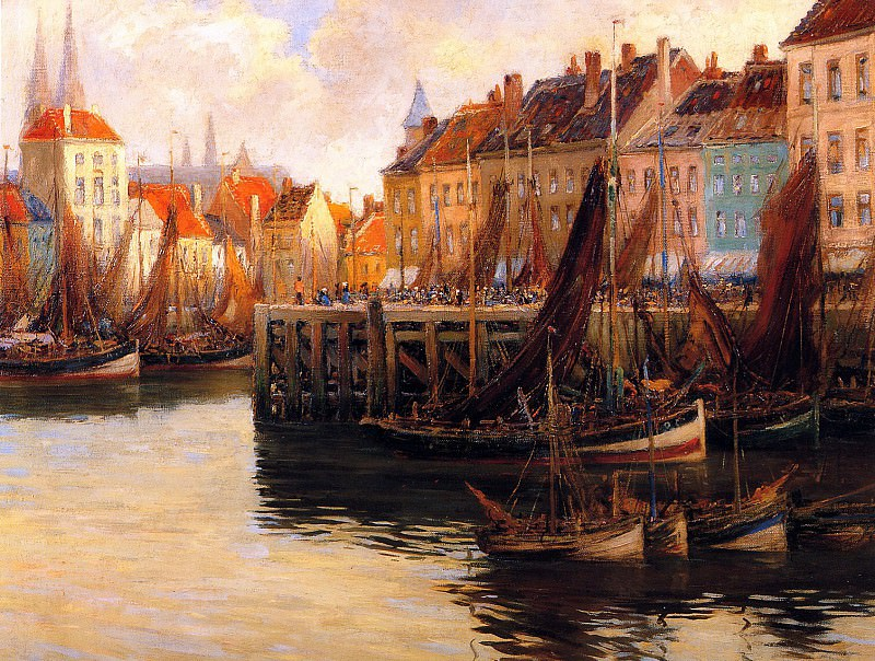 Fishers quai in Oostende. Willem Bataille