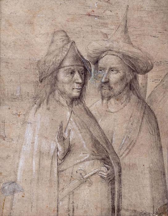 Два азиата (приписывается). Иероним Босх