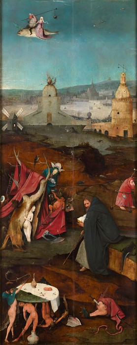 Temptation of St Anthony right wing of the triptych. Hieronymus Bosch