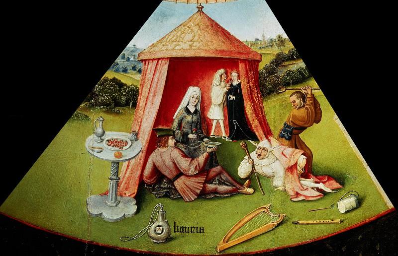 Семь смертных грехов и четыре последние вещи - Похоть (мастерская или последователь). Иероним Босх